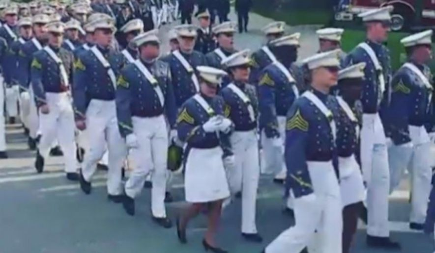 West Point Cadet Texts on Phone While Marching in Formation
