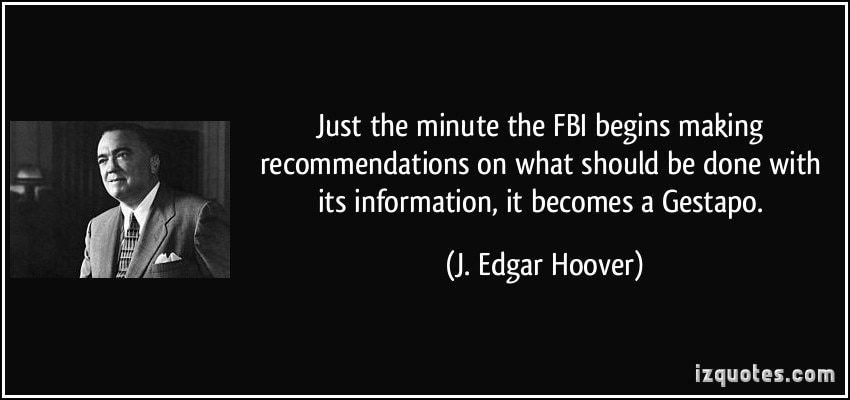 Image result for fbi as gestapo