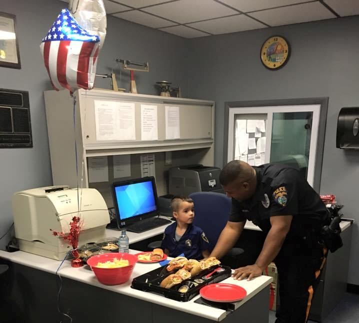 NJ child saves allowance to feed police officers