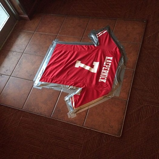 Kaepernick's Jersey makes a great door mat