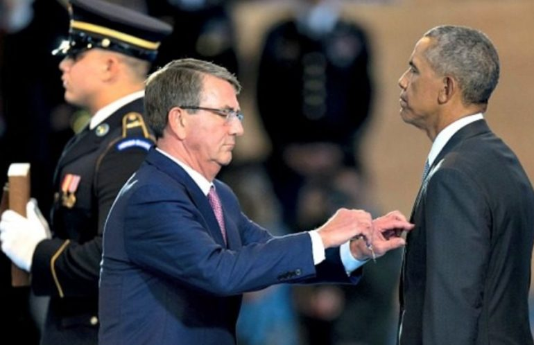 Obama – Ego-in-Chief gets a Medal for ?