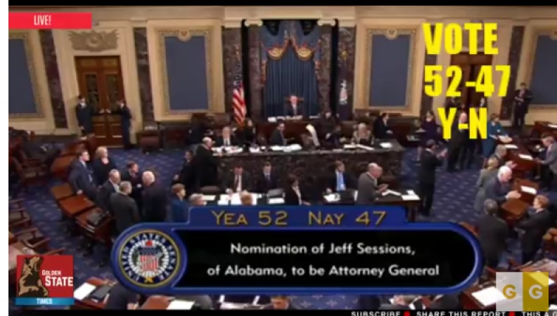 Confirmation of Jeff Sessions as AG- Dems Lose Again