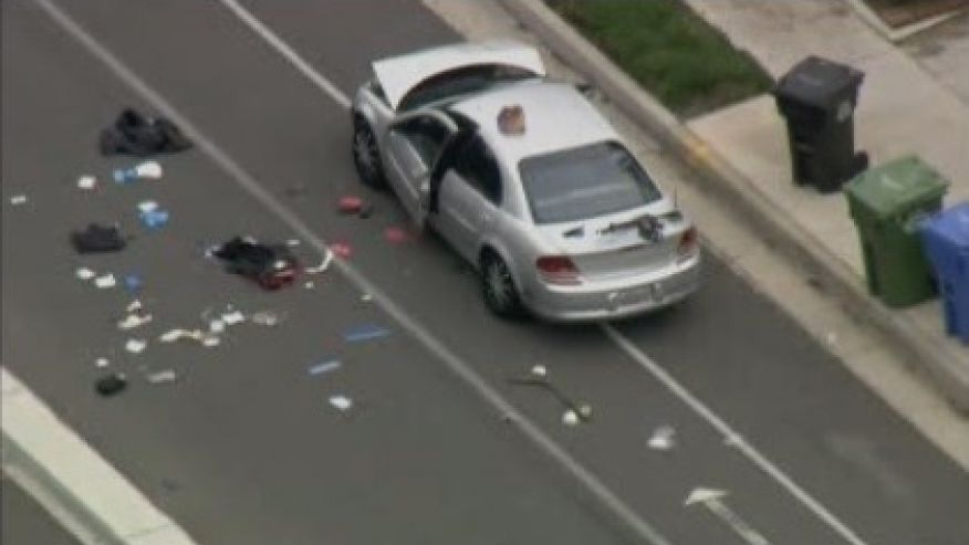 Whittier Police Officer Killed, 1 Wounded at Traffic Accident Scene