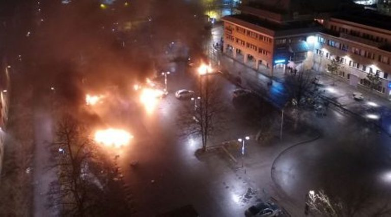 Trump was Right about Sweden- Riots Break Out in Migrant Suburb in Rinkeby, Sweden