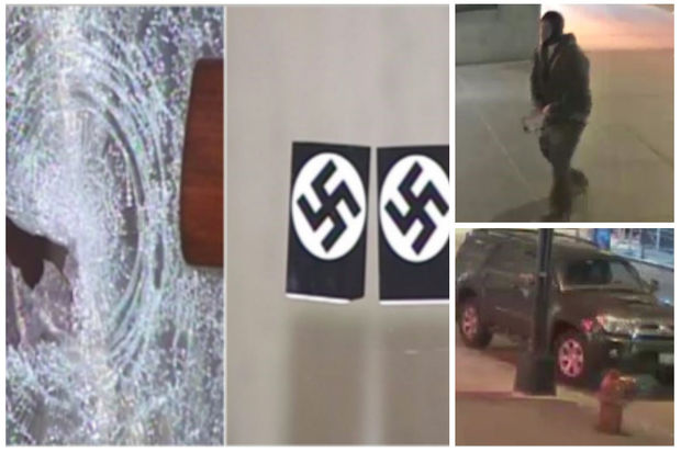 Chicago Synagogue Vandalized and Swastika Stickers Pasted on the Front