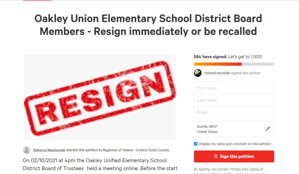 Oakley Union Elementary School Board Caught Making Inappropriate Comments About Parents ⋆ Conservative Firing Line