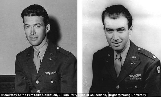 Before and After of James Stewart in WWII