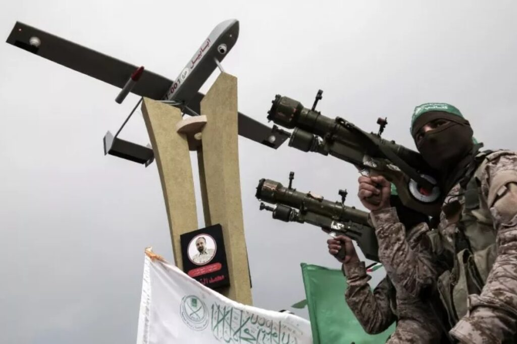 Hamas with Iranian attack drone