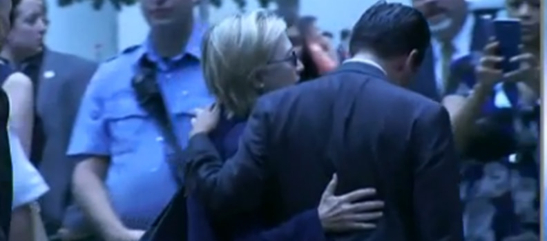 Clinton's Medical Episode- at a 9-11 Ceremony