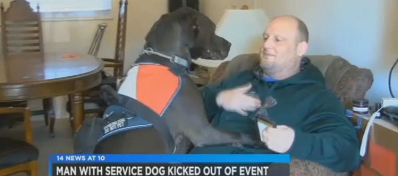 21 Year Veteran with Service Dog Kicked Out of Gun Show