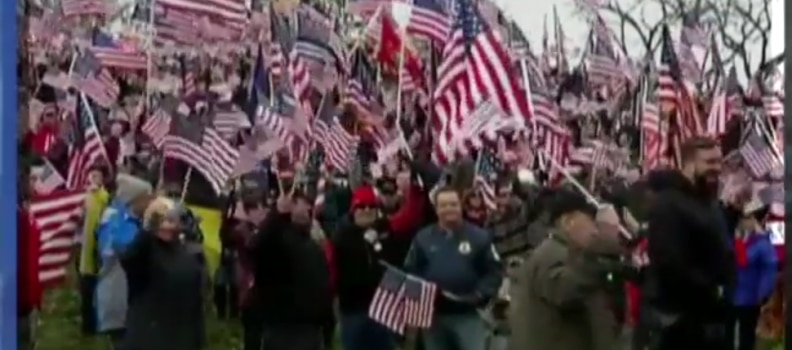 Veterans protest college that refused to fly flag