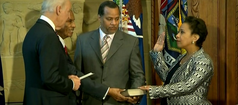 Loretta Lynch sworn in as AG – Voting for Race or Rule of Law?