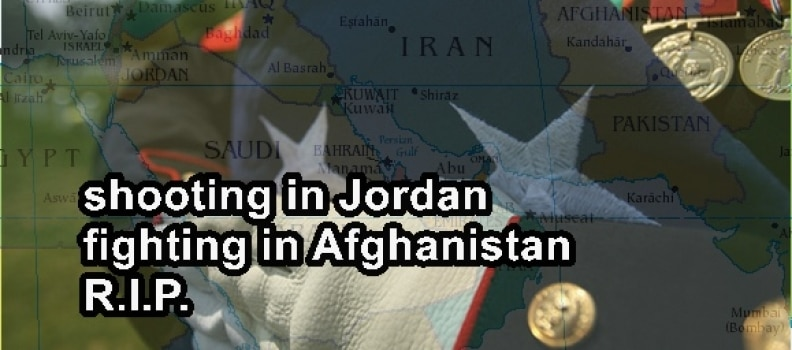 2 US Military advisers killed in Afghanistan, 2 Military trainers killed in Jordan
