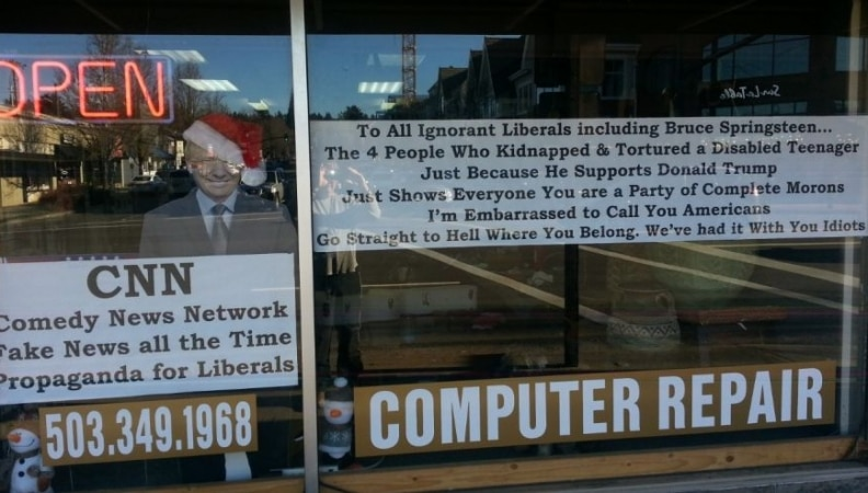 Oregon Business Owner: We've had it with you Idiots