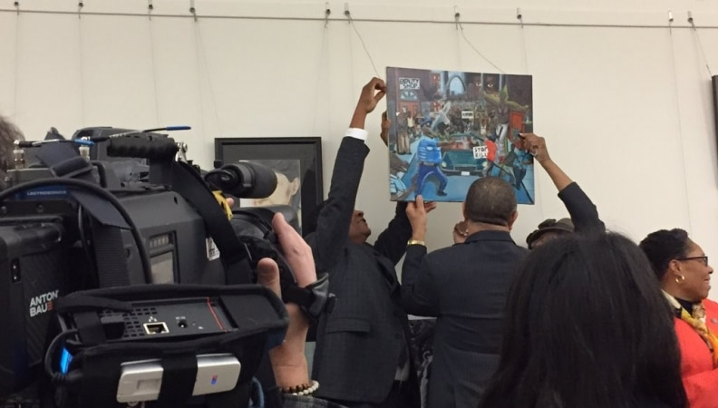 Democrats Rehang Anti-Police Painting in US Capitol