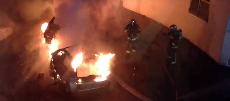 France Arson Rampage- cars torched for New Years